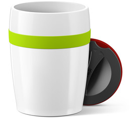 EMSA 'Travel Cup Ceramics' mug - 200ml - Lime Green