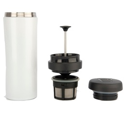 Mug travel press blanc avec filtre à café - 35cl - Espro