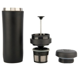 Mug travel press noir mat avec filtre à café - 35cl - Espro