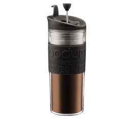 TRAVEL PRESS Bodum Couvercle à piston noir, double paroi plastique , 45 cl