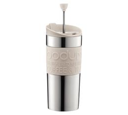 Travel Press piston Bodum blanc crème et inox double paroi - 35 cl