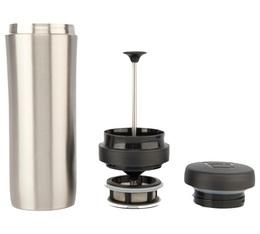 Mug travel press alu brossé avec filtre à thé - 35cl - Espro
