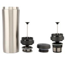 Mug travel press alu brossé avec filtre à café + thé - 35cl - Espro