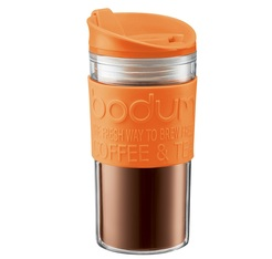 Travel Mug 35 cl Orange, plastique double paroi - BODUM