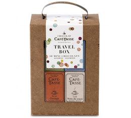 Travel Box Valisette assortiment de 50 mini-tablettes - Café-Tasse