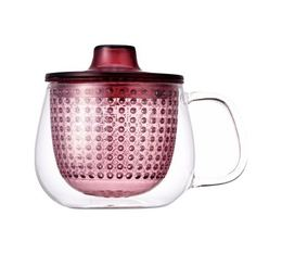 Mug Kinto Unimug + infuseur à thé rouge - 35cl