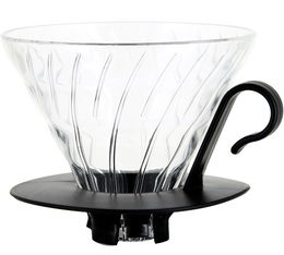 Dripper Hario V60 VDG-02 conique transparent 4 tasses