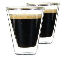 2 Verres Double Paroi Caffeino 8.5 cl - Bormioli Rocco