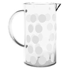 Verre de rechange pour cafetière Zak!designs DOT DOT blanche - 8 tasses