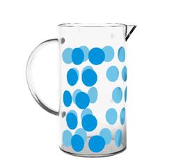 Verre de rechange pour cafetière Zak!designs DOT DOT bleue - 3 tasses