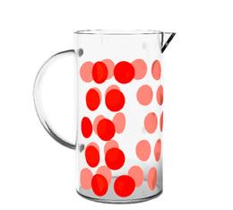 Verre de rechange pour cafetière Zak!designs DOT DOT rouge - 3 tasses