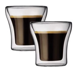 2 verres double paroi BODUM ASSAM 10cl