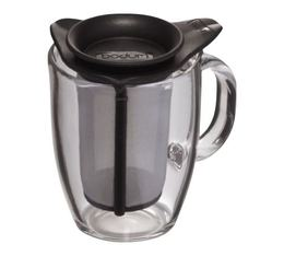 Bodum Yo-Yo glass mug with black tea filter - 35cl