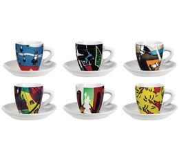 6 tasses espresso + sous tasses 'Arte' - Bialetti