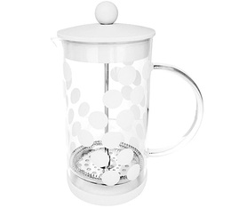 Cafetière à piston Zak!Designs DOT DOT blanche 8 tasses