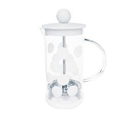Cafetière à piston Zak!Designs DOT DOT blanche 3 tasses
