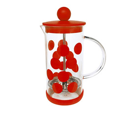 Cafetière à piston Zak!Designs DOT DOT rouge 3 tasses