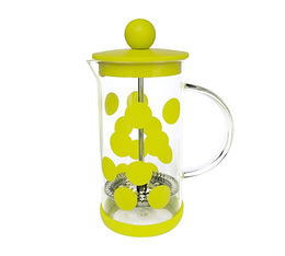 Cafetière à piston Zak!Designs DOT DOT verte citron 3 tasses