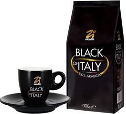 Zicaffè 'Black of Italy' 1kg coffee beans + Free espresso cup and saucer