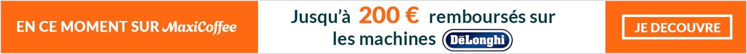 Remboursement sur machines automatiques  et broyeurs à café Delonghi