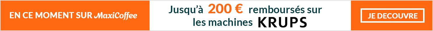 Remboursement sur machines automatiques  et broyeurs à café Krups