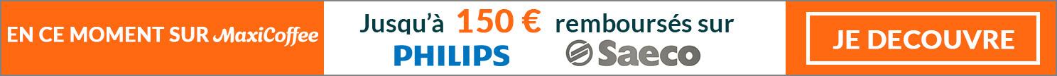 Remboursement sur machines automatiques  et broyeurs à café SAECO PHILIPS