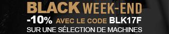 Black Friday ! -10% de remise avec le code BLK17F