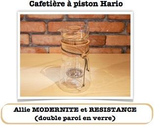 Presse à café Hario double paroi en verre DGC40OV