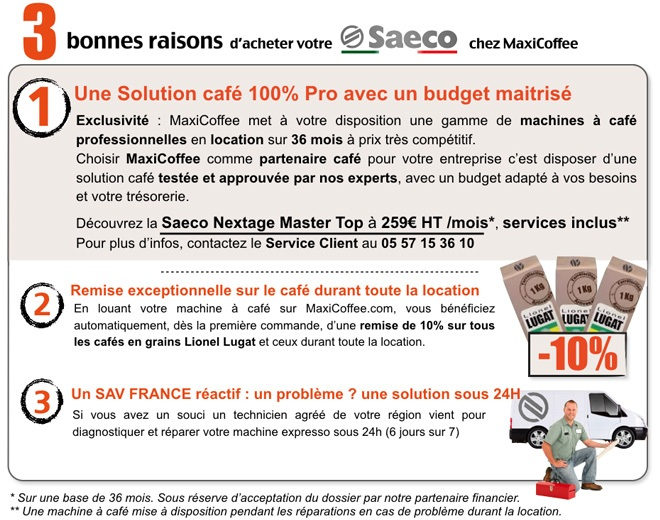location saeco nextage top