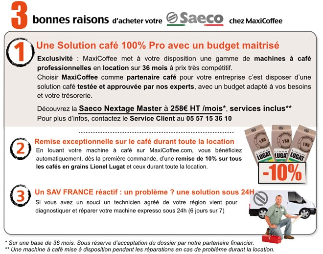 location saeco nextage