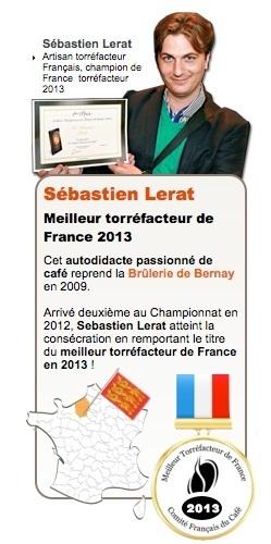 sebastien lerat meilleur torréfacteur de france 2013
