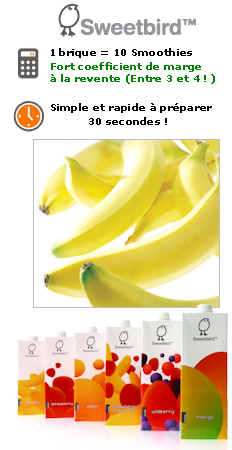 smoothie banane pour coffee shop