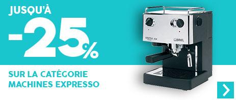 -25% sur les machines expresso manuelles