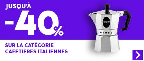 -45% sur les cafetières italiennes
