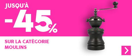 -45% sur les moulins à café