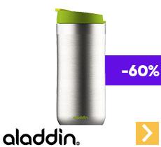 Mug isotherme double paroi inox vert - 35 cl - ALADDIN