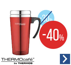 Mug isotherme ThermoCafé by Thermos soft touch rouge - 42cl