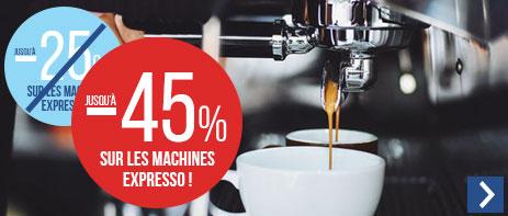 Jusqu'à -45% sur les machines expresso manuelles
