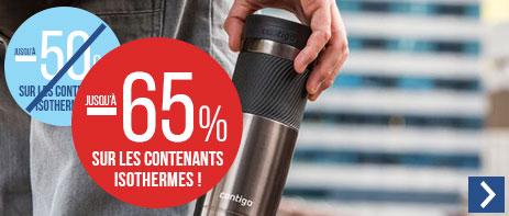 Jusqu'à -65% sur les contenants isothermes