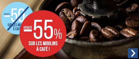 Jusqu'à -55% sur les moulins à café