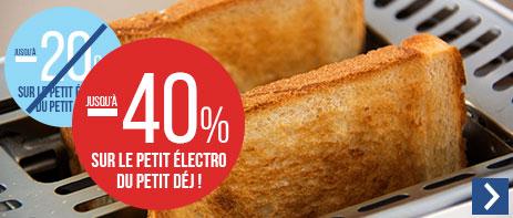 Jusqu'à -40% sur le petit électroménager du petit déjeuner