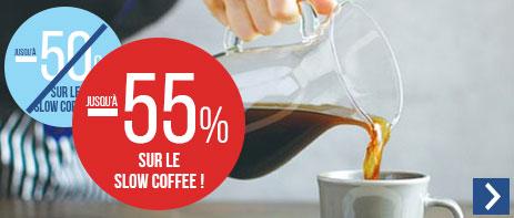 Jusqu'à -55% sur les cafetières filtres manuelles