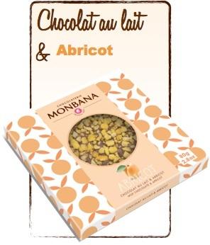 tablette chocolat au lait abricot monbana