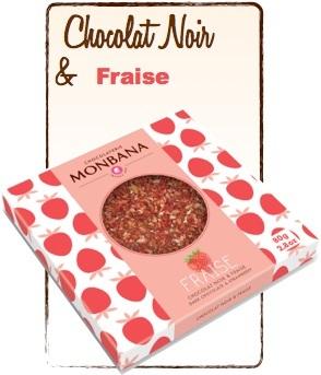 tablette chocolat noir fraise monbana