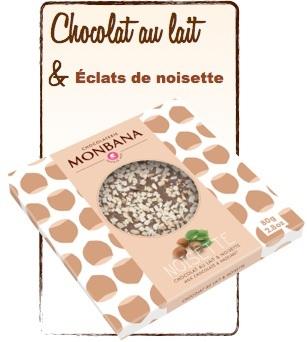 tablette chocolat noisette monbana