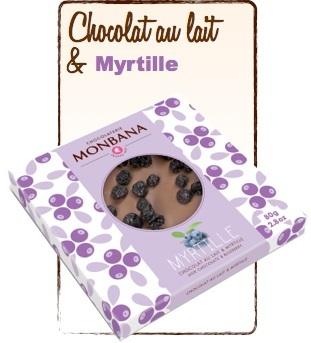 tablette chocolat au lait myrtille monbana