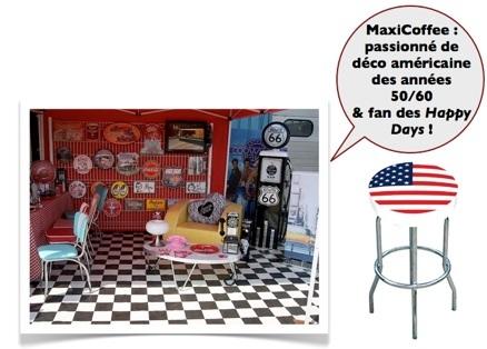 tabouret américain décoration intèrieur