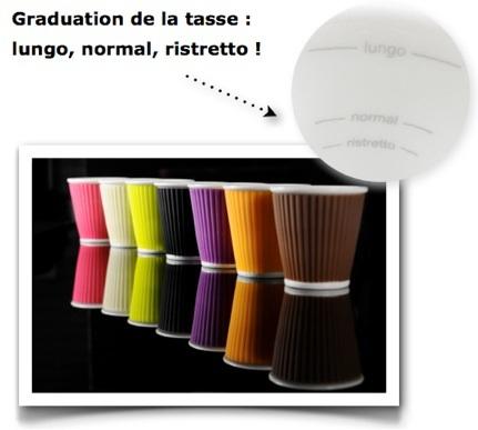 tasse à café moderne silicone les artistes paris
