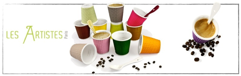 tasses à café colorées en silicone les artistes paris