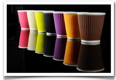 tasses à café ondulées porcelaine les artistes paris